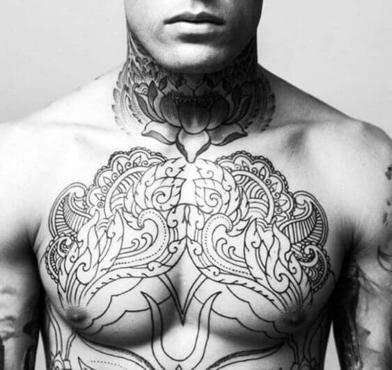 Tribal Chest Tattoos A Classic Choice In terms of tattoo placement, there are not as many people with chest tattoos as back pieces while chest tattoos can look really nice on both men and women if they are right executed by a competent. tribal chest tattoos a classic choice