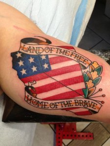 Patriotic Flag Tattoos