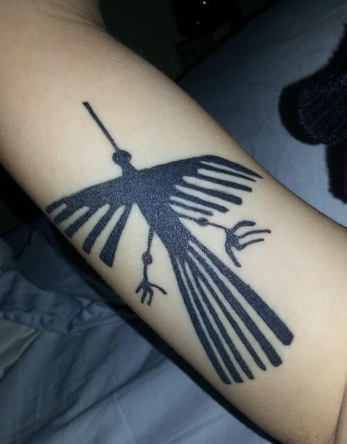 Condor Tattoo In Inca Style