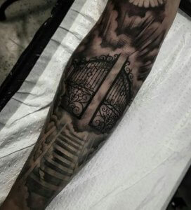 Pearly Gates To Heaven Tattoo